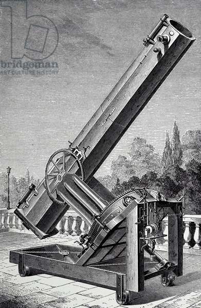 Léon Foucault's silver-on-glass reflecting telescope