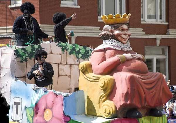 Mardi Gras Parade, New Orleans, Louisiana, a few months after Hurricane Katrina 2006 (photo)