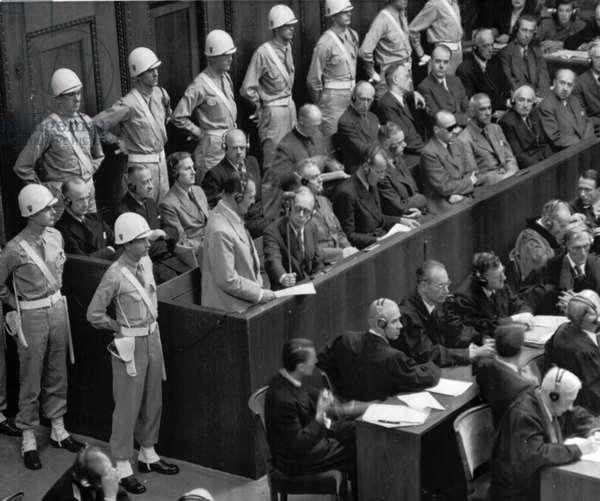 Hermann Goering Makes Final Statement To The International Military Tribunal at Nuremberg