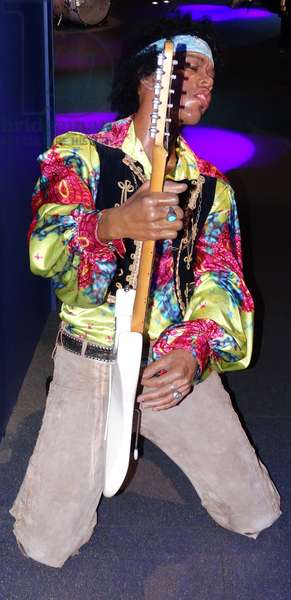 Waxwork statue of Jimi Hendrix