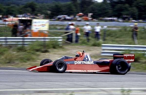 Niki Lauda driving a Brabham BT46 Fan car (photo)