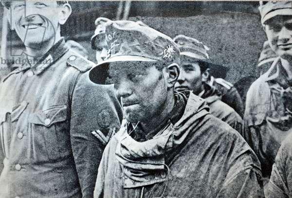 World war Two German prisoners of war at Colmar, France February 1943