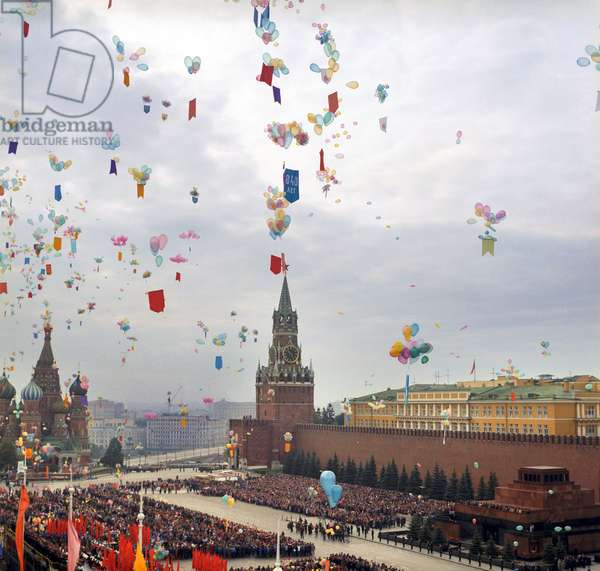 Day Of City Of Moscow : Official opening of the Day of the City of Moscow at the Red Square in Moscow, Russia, 20/09/91 ©ITAR-TASS/UIG/Leemage
