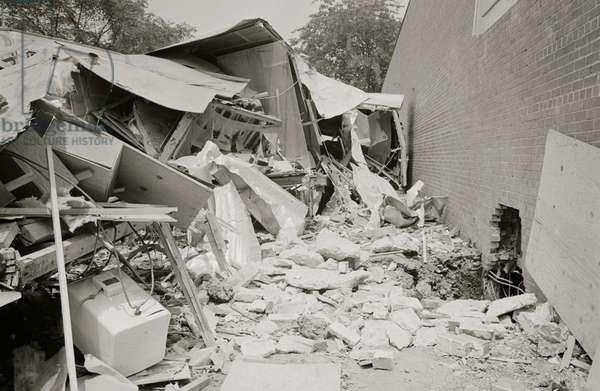 Bomb-damaged trailers at the Gaston Motel, Birmingham, Alabama 1963 (photo)