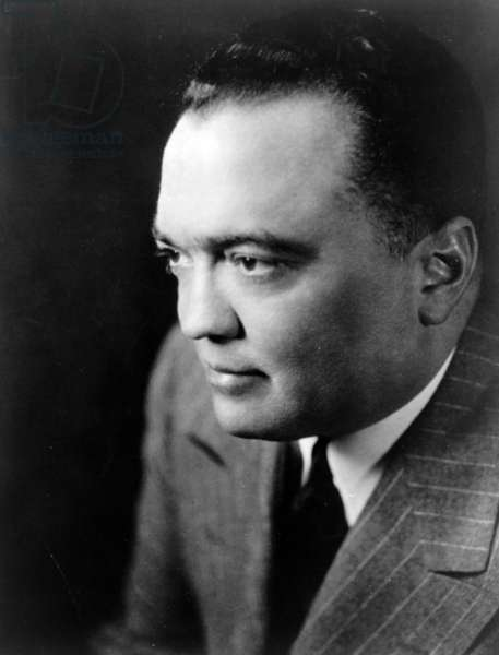 1948 photograph of J. Edgar. Hoover 1895-1972. Director of the FBI (Federal Bureau of Investigation), from 1924-1972.