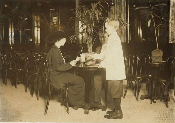 A young table boy in Newsome's ice cream parlor. 1914 (photo)