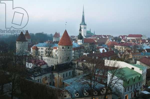View of Tallinn from Toompea, Estonia (photo)