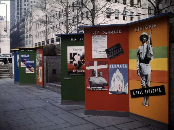 Rockefeller Plaza exhibit.