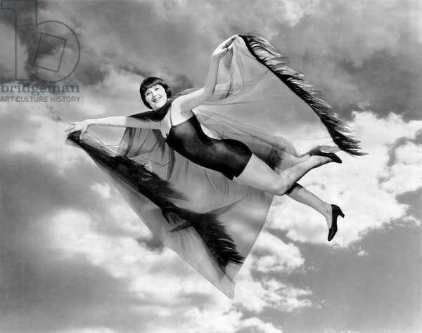 Flying Margaret Livingston (b/w photo)