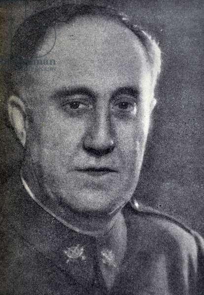 Spanish Civil War: Brigadier General Don Eliseo Alvarez Romero Arenas. Captain General of the Catalonia Region 1939