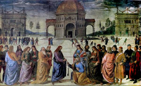 Raphael 'Christ's Charge to Peter' 1515-16