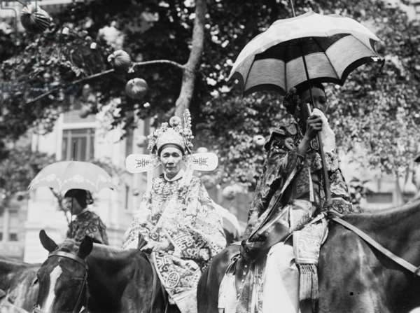 Chinese women in N.Y. 4th July parade 1912 (photo)