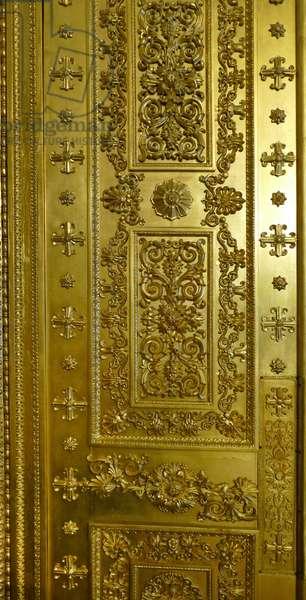 Gilded door to a Drawing room of Tsar Nicholas II, 1900