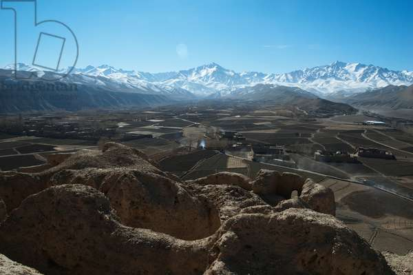 View of the Bamiyan Valley from Ruins of the Citadel of Shar E Gholgola, Bamian Province, Afghanistan (photo)