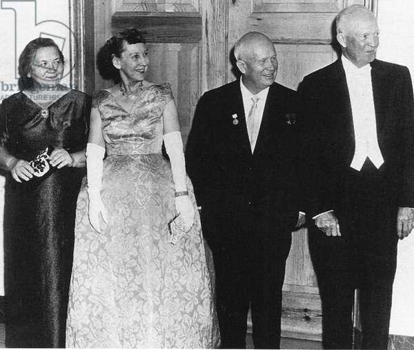 Nikita Khrushchev and Dwight Eisenhower