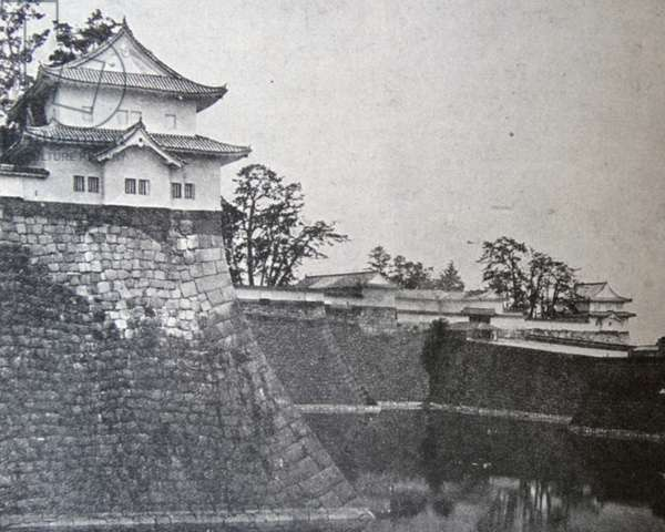 The moat of Osaka Castle