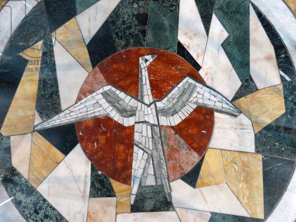 Mosaic Floor at the Chapel of Unity, Coventry Cathedral, 1962
