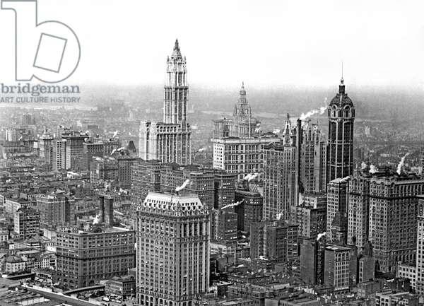 The NY Financial District , New York, New York, c.1915 (b/w photo)