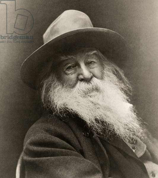 Portrait Of Walt Whitman, United States of America, 1887 (b/w photo)