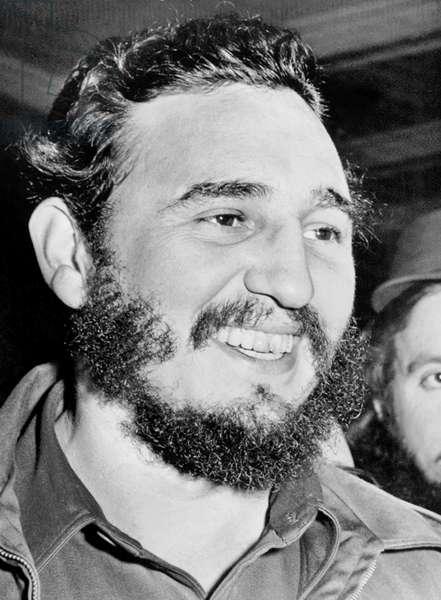 A Smiling Fidel Castro, Washington, D.C., April 17, 1959 (b/w photo)