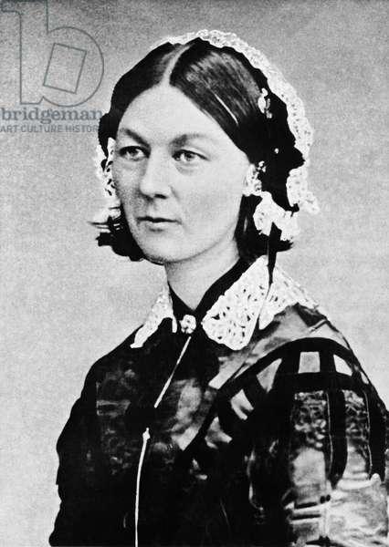 Florence Nightingale, Russia, c.1855 (b/w photo)