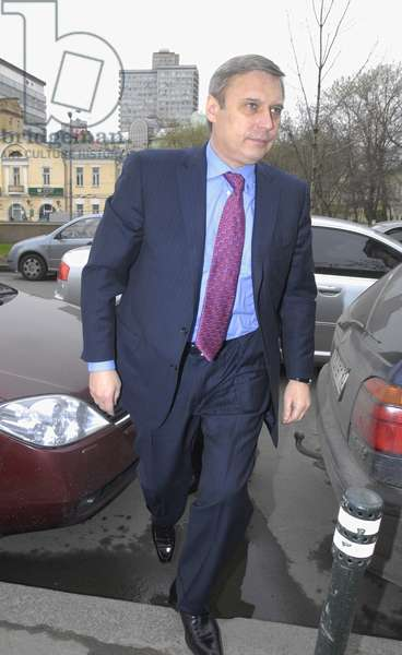 Leader of the Russian People'S Democratic Union Mikhail Kasyanov Seen Before the Other Russia Organization'S Forum in the Central House of Journalists in Moscow, April 19, 2007.