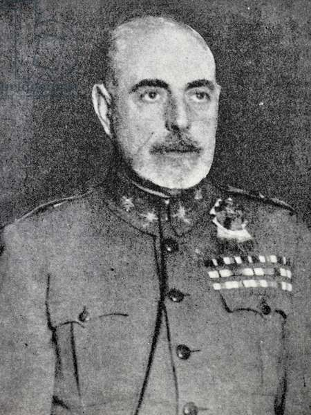 Spanish Civil War: Joaquin Fanjul Goñi (1880 - Madrid, 17 August 1936) Spanish soldier who conspired and rebelled against the Second Spanish Republic