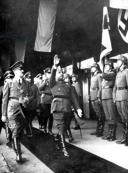 Francisco Franco the Spanish leader, met with German leader, Adolf Hitler.