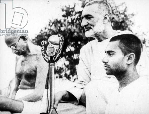 Mahatma Gandhi and Abdul Ghaffar Khan, 1939