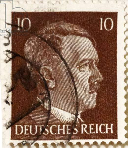 Adolf Hitler Nazi Chancellor of Germany depicted on a postage stamp 1936