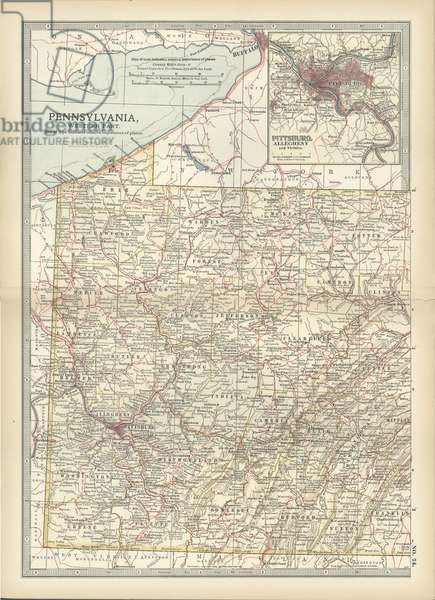 Map of Pennsylvania, with inset map of Pittsburg