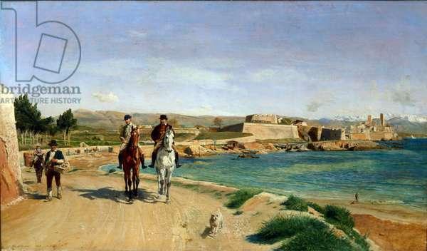 Antibes La promenade a cheval, 1868 (painting)