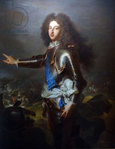 Portrait of Louis, Duke of Burgundy by Hyacinthe Rigaud and Joseph Parrocel