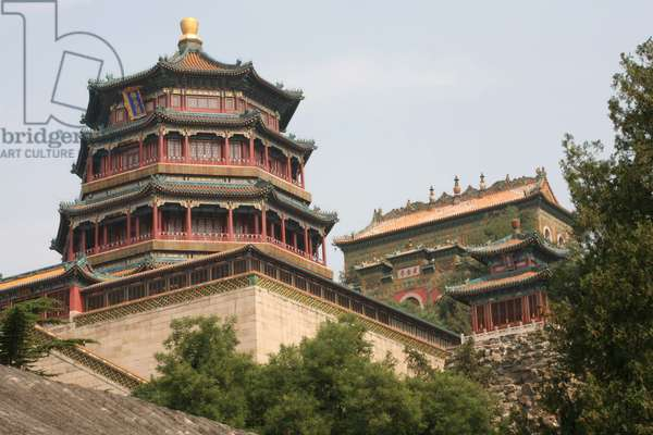 China, Beijing, Summer Palace, Tower of Buddhist Incense, exterior