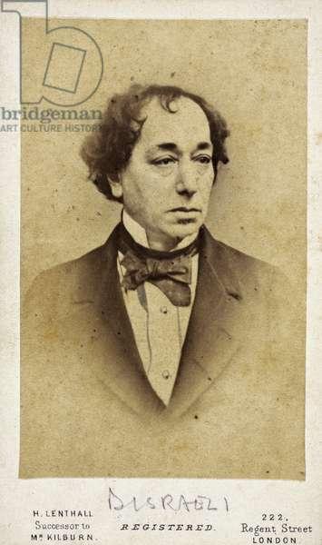 Benjamin Disraeli, English statesman and novelist, c 1860s