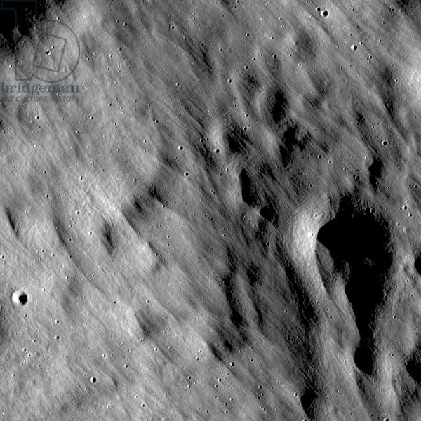 Far edge of the Giordano Bruno crater ejecta blanket.