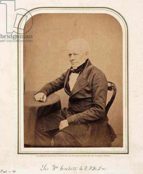 Sir William Cubitt, British civil engineer and inventor, 1854-1866