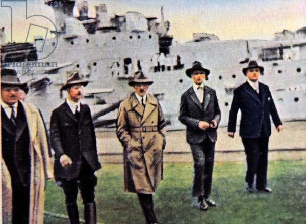 Hitler visits German naval shipyard 1933