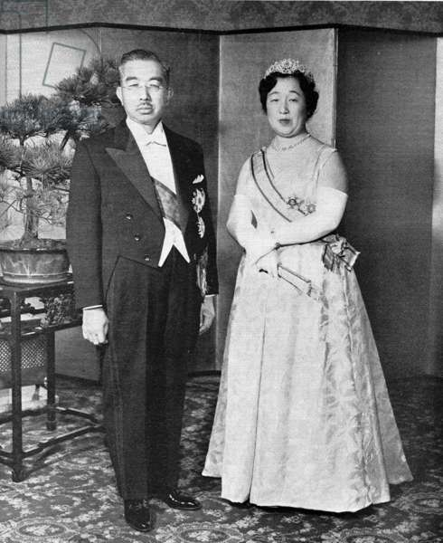 Emperor Hirohito of Japan with Empress Nagako, 1964