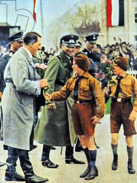 Hitler meets members of Hitler Youth c.1934