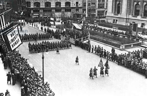 Liberty Bond Drive., United States, c.1917 (b/w photo)