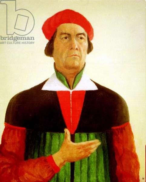 Kazimir Malevich, Russian Avant Garde Artist, his Famous Self-Portrait.