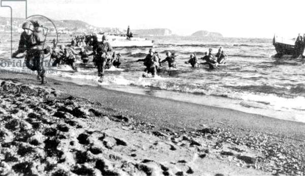 WWII in Italy 1943 Allied invasion of Italy Salerno 1943