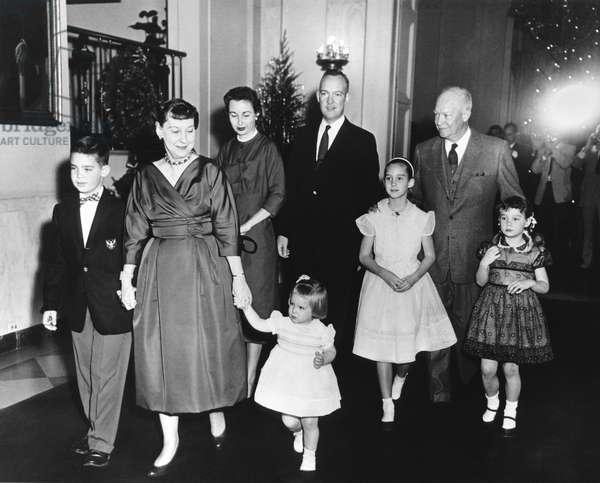 An Eisenhower Christmas (b/w photo)