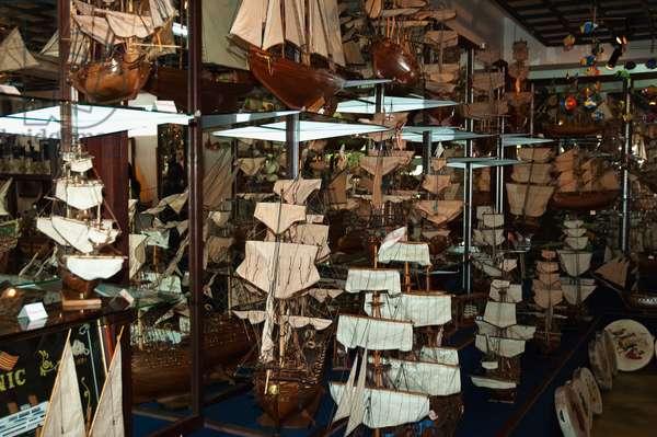 Ship Models in the Bobato Lta Gallery, Curepipe, Mauritius (photo)