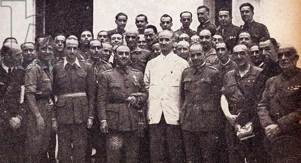 General Franco during the army uprising