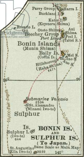 Map of Bonin Islands and Sulphur Islands