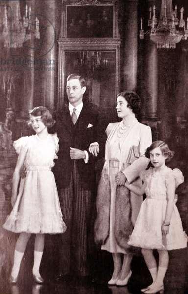 King George VI, the Queen Mother, Queen Elizabeth II and Princess Margaret, 1950