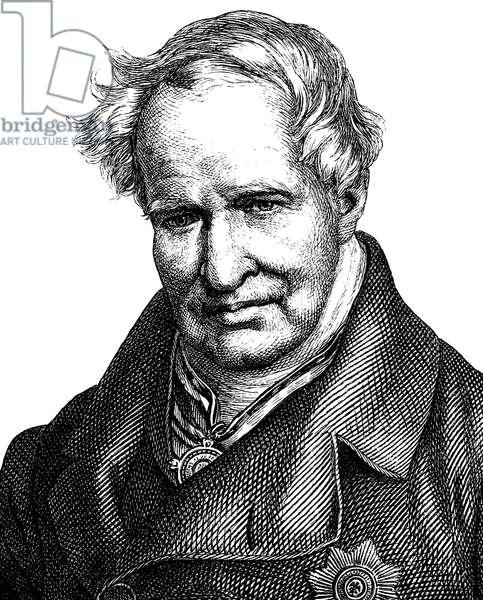 Alexander von Humboldt, German naturalist, 1769 - 1859, portrait, historic illustration, 1880 ©UIG/Leemage