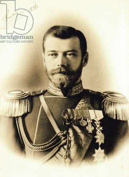 Russian Emperor, Tsar Nicholas Ll, 1898.